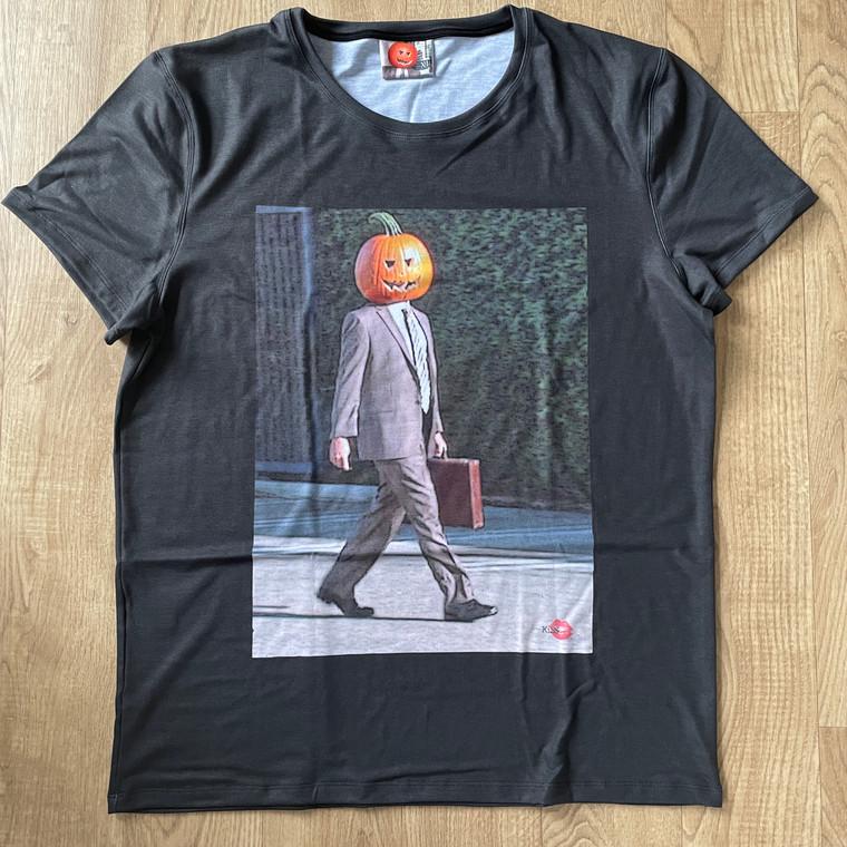 Pumpkin Dwight KiSS T-Shirt - The Office - Schrute - US Sitcom - Halloween Funny
