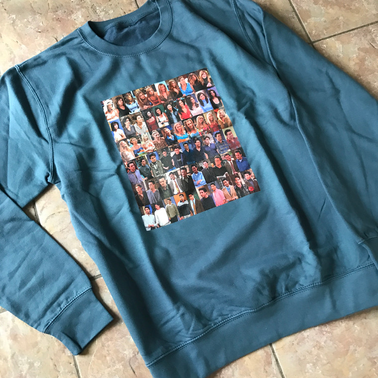 Friends Seasons KiSS Sweatshirt - TV Show inspired - Cast 10 series - Rachel Monica Phoebe Joey Chandler Ross
