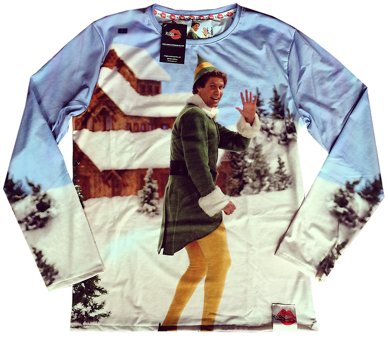 Elf KiSS Cut & Sew Jumper - Christmas - Xmas Sweatshirt - Buddy the Elf - Will Ferrell