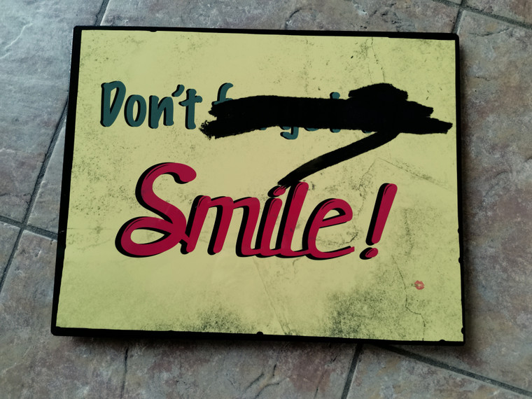 Don't Forget To Smile KiSS Metal Print Sign  - Joker - Joaquin Phoenix - Aluminium Wall Art - Replica Movie Inspired