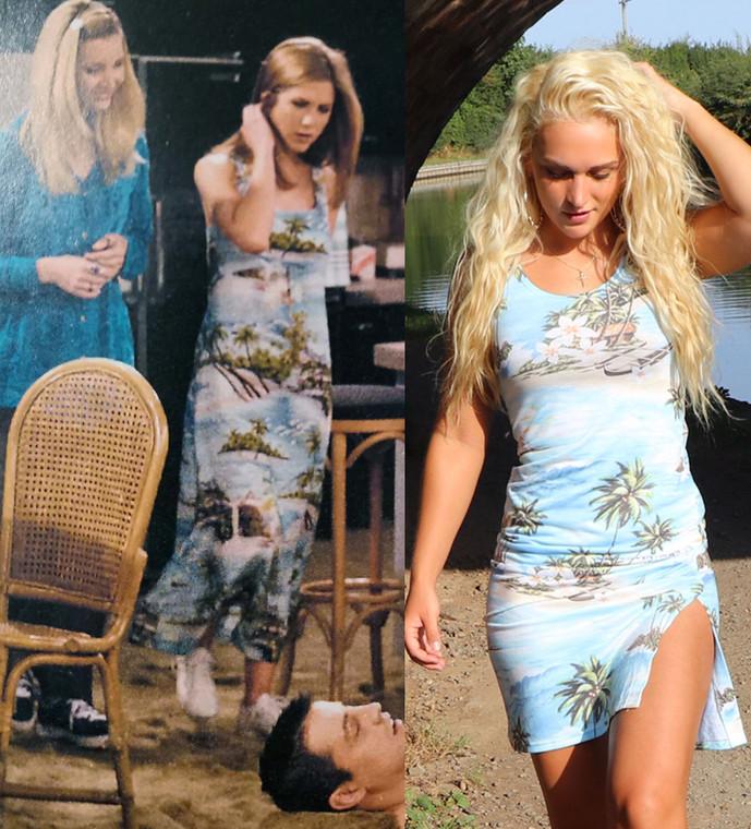 Hawaiian Island  KiSS Handmade Dress - Friends Rachel Green Inspired - Beach Dress - Maxi or Bodycon Summer