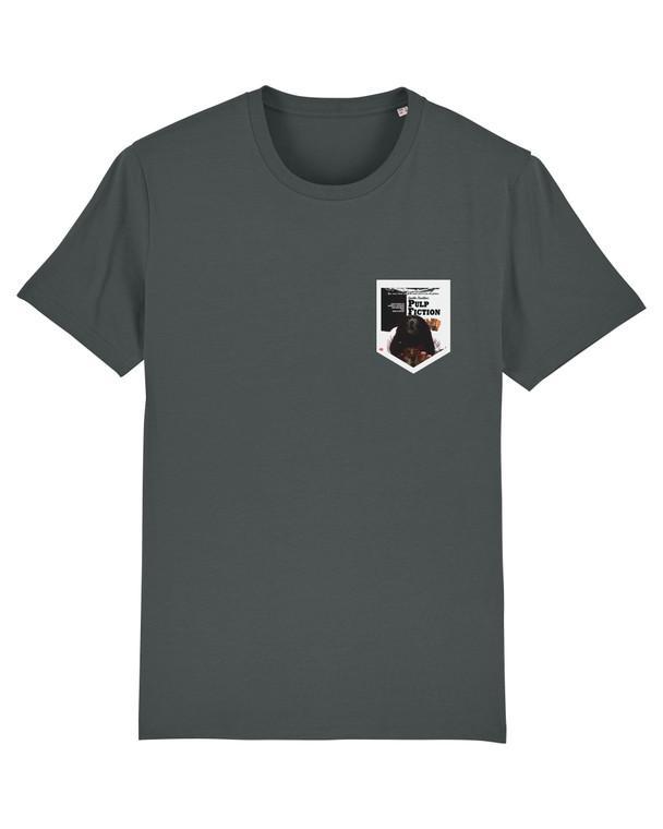 Mia Wallace Pulp Fiction KiSS Pocket Style T-Shirt - Movie Poster inspired - Uma Thurman Coke - Quentin Tarantino