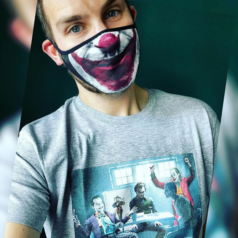NEW: 4 Jokers Meeting KiSS T-Shirt - Heath Ledger - Edit - Jack Nicholson Jared Leto Joaquin Pheonix Dark Knight - Present - Joker