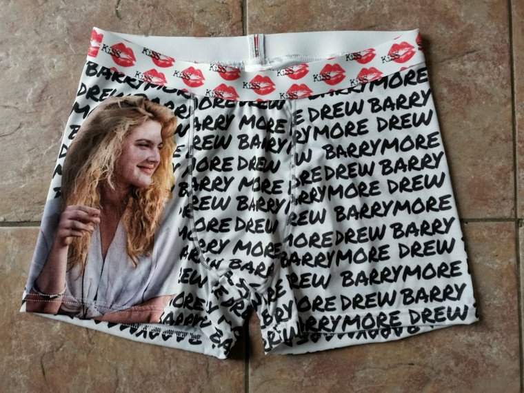 Drew Barrymore KiSS Cut & Sew Boxer Briefs - Poison Ivy 90s Gift  - Actress