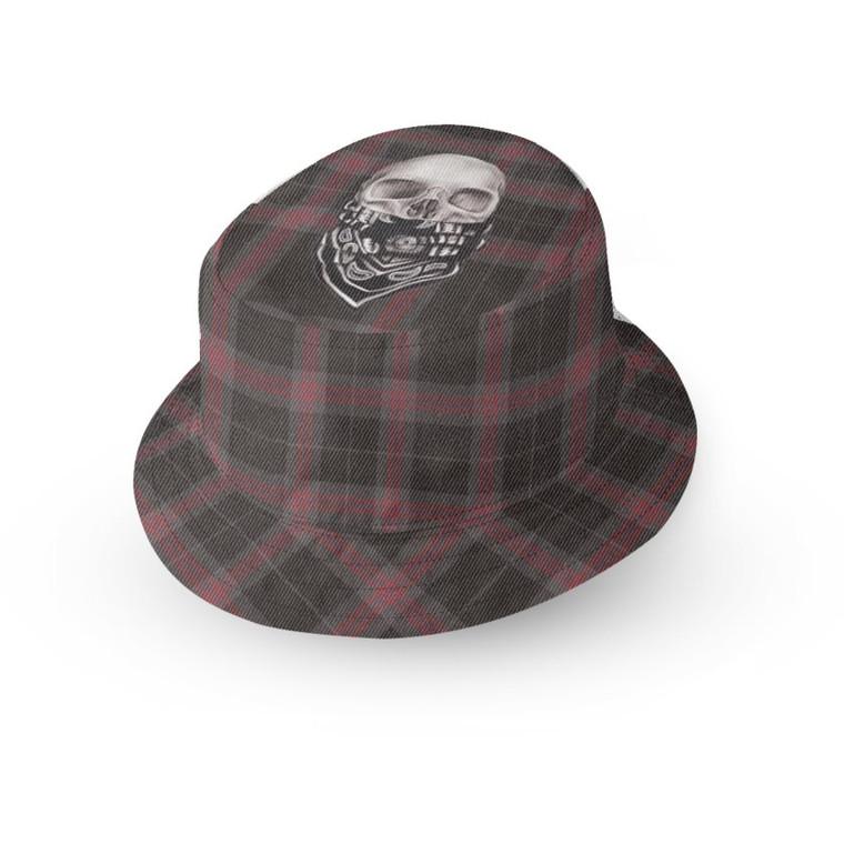 Tartan Skull KiSS Bucket Hat  - Unique Skulls - Smart - Gift Idea