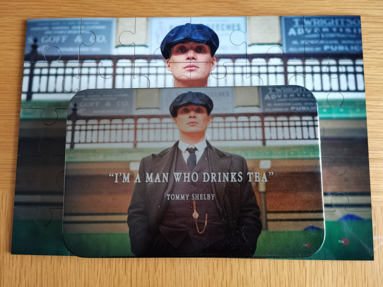 Tommy Shelby Tea KiSS Jigsaw Puzzle - Peaky Blinders inspired- Cillian Murphy, UK TV Show - Stocking Filler - Present/Gift Idea