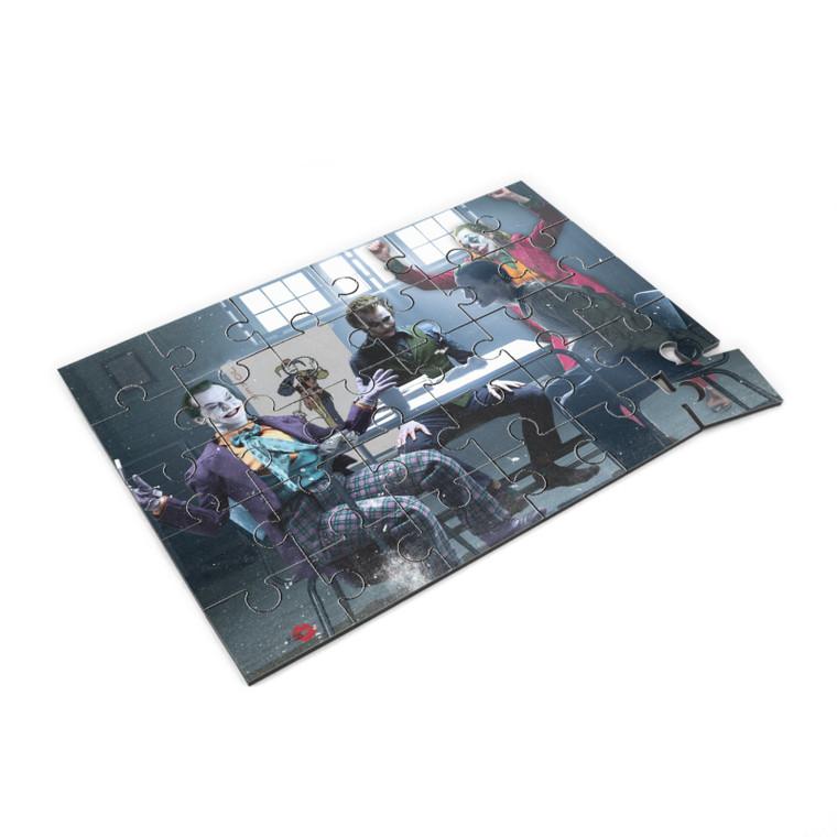 4 Jokers Meeting KiSS Jigsaw Puzzle - Heath Ledger - Edit - Jack Nicholson Jared Leto Joaquin Pheonix Dark Knight - Present - Joker