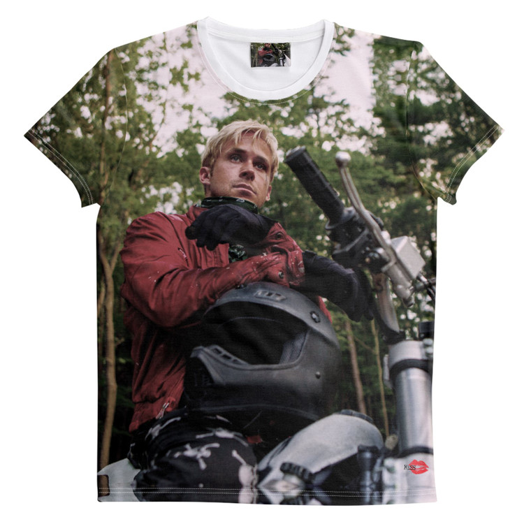 Place Beyond the Pines KiSS All Over T-Shirt - Ryan Gosling inspired - Movie - Motorbike Quote