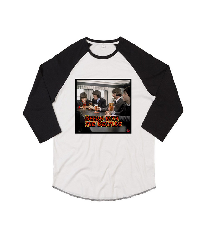 Beers With The Beatles KiSS Baseball T-Shirt - Drink - Night Out Pub - Music