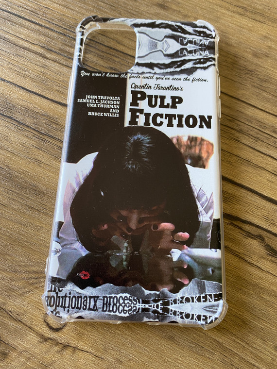 Mia Wallace Pulp Fiction KiSS Phone Case - Movie Poster inspired - Uma Thurman Coke - Quentin