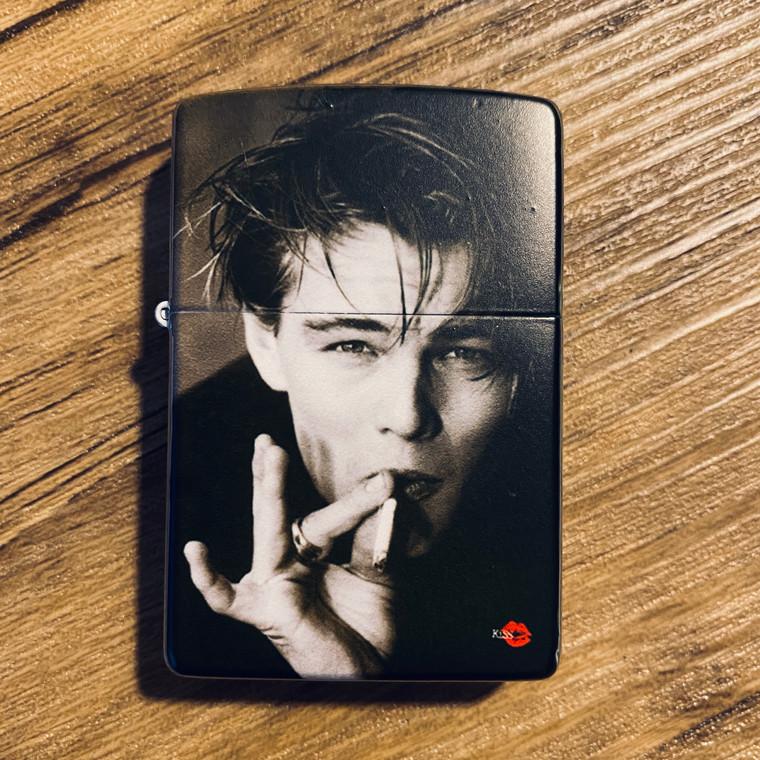 Leonardo ZIPPO® KiSS Lighter - DiCaprio Smoking - Young 90s - Movie Film