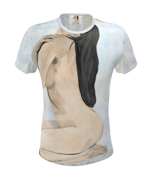 Nude Female KiSS All Over T-Shirt - Renaissance - Painting Beautiful
