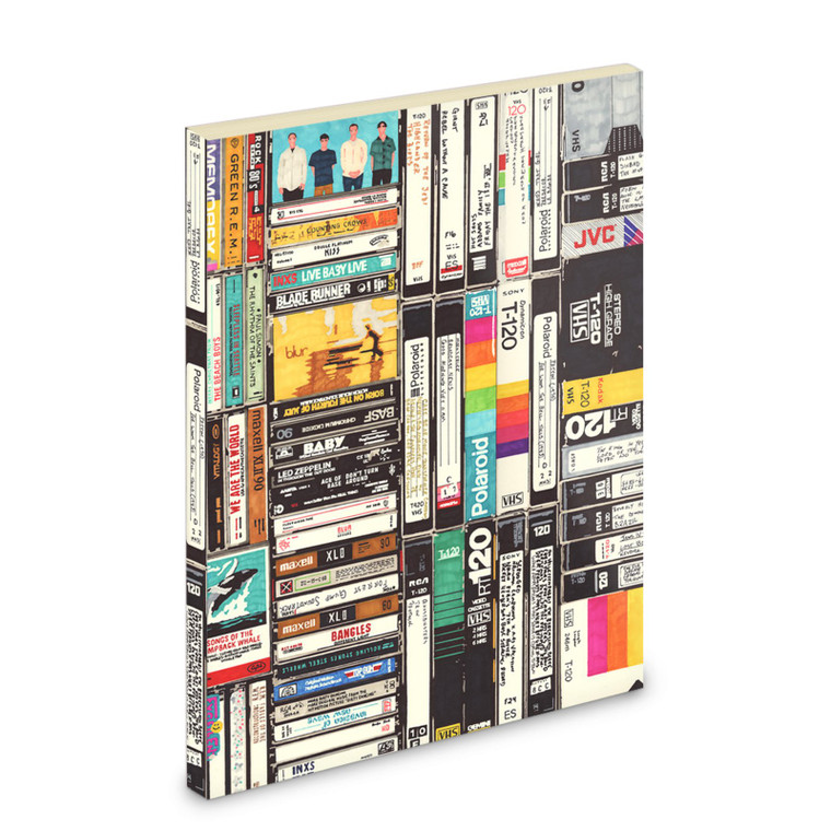 Cassettes, VHS, Atari KiSS Notebook - Retro - Video Tapes, 80s 90s - Handmade Unique - Gift Idea