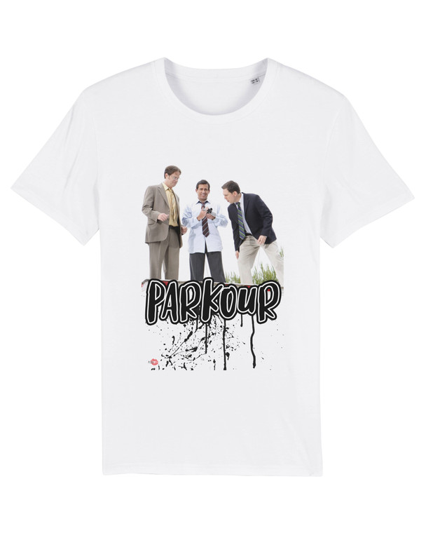 The Office Parkour KiSS T-Shirt - Michael Scott - Steve Carrell Andy Dwight Schrute - Dunder Mifflin