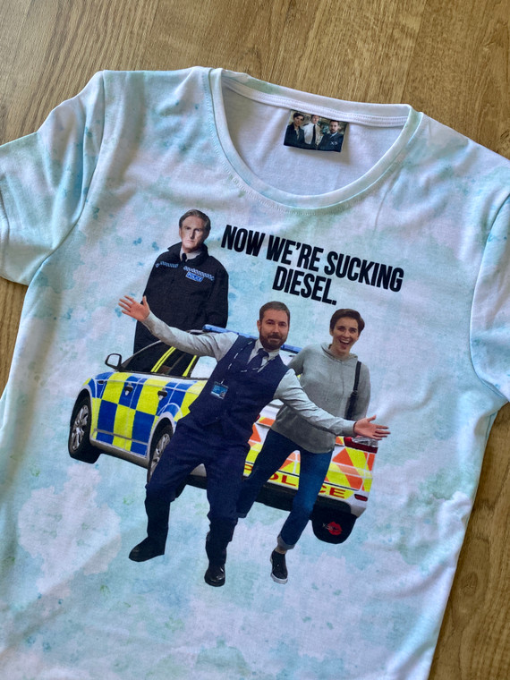Line of Duty KiSS T-Shirt - Ted Hastings Quote - Sucking Diesel - Kate Fleming Steve Arnott - Police Drama