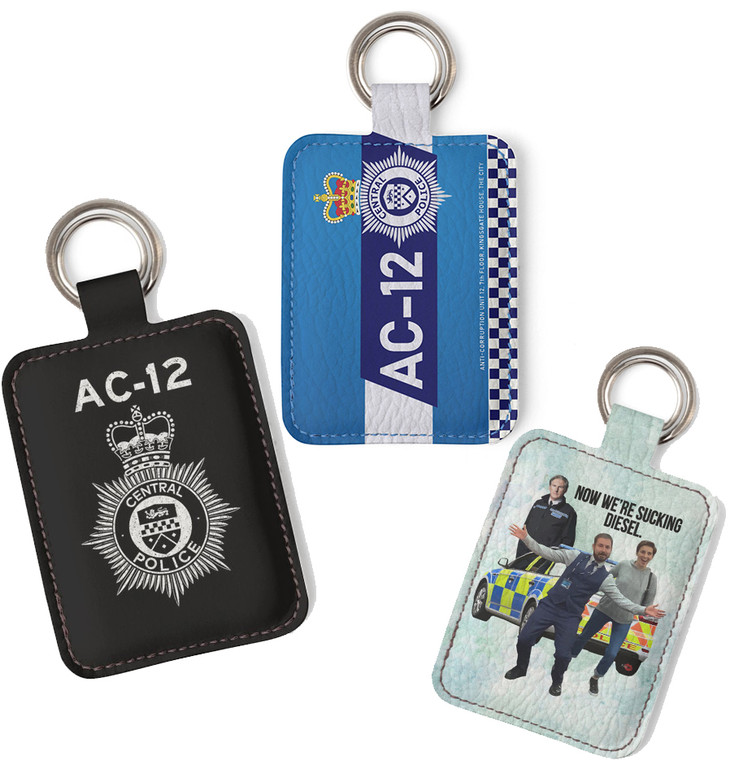 AC-12 Faux Leather KiSS Key Ring - Line of Duty Inspired Quote Kate Fleming Steve Arnott Ted Hastings - UK British Police Drama Gift Idea