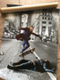 Batman/Joker Skateboard KiSS Canvas or Poster - Skating Trick, Ollie - Heath Ledger, Christian Bale - Dark Knight - Stocking Christmas Wall Art