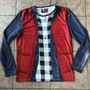 Marty KiSS Cut & Sew Top - McFly Delorean - Back to the Future - Michael J Fox - Costume