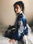 White Tiger KiSS Kimono - Silk Style Dressing Gown Robe - Villanelle Killing Eve Inspired - Jodie Comer - TV Show - Handmade