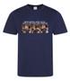 Monica KiSS Fitness T-Shirt - Friends TV Show Inspired - Wicking Gym Gymwear - Workout