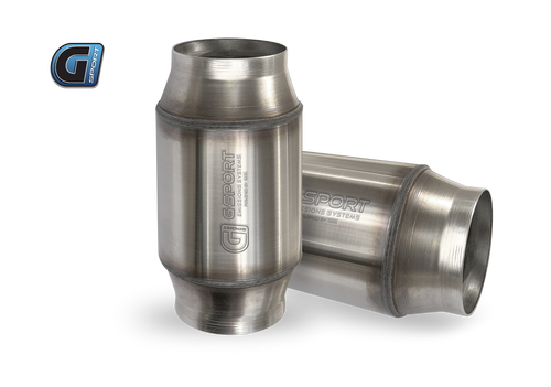 "G-Sport OBD2 300 CPSI Non EPA Approved Catalytic Converter Assembly 2.5"" Inlet/Outlet x 4"" Diameter Body x 7"" OAL.Will repalce Vibrant 7101"