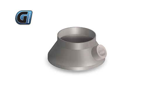 "G-Sport Inlet / Outlet Transition Cone (Single Piece) 4"" BODY / Straight With integrated O2 Sensor Fitting, 3"" Diameter"