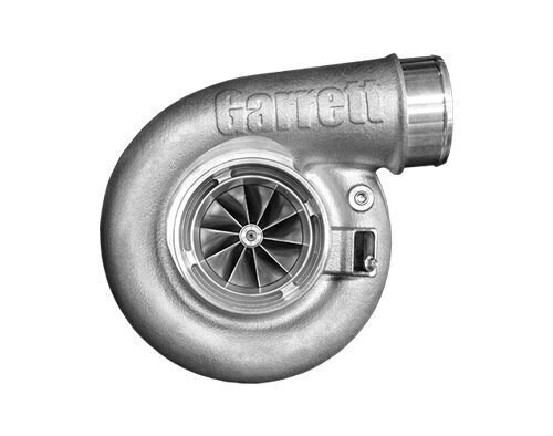 "Garrett G42-1200C Compact Turbo Assembly with Turbine Housing T4 Inlet/V-Band A/R 1.28 Horsepower: 475 - 1200HP Displacement: 2.0 - 7.0L  Garrett® G Series Compressor Aerodynamics (10 blades) for maximum HP. Fully machined Speed Sensor and pressure ports. Turbine Wheel Aero constructed of Inconel super alloy rated 950ºC. Stainless Steel non wastegated turbine housing option capable of 950°C. Oil restrictor and water fittings included.  Compressor side: TRIM 65 A/R 0.90  Compressor Air Inlet: Hose 4""   Compressor Air Outlet: Hose 3""  Turbine side: TRIM 84  A/R 1.28  Turbine Inlet: T4   Turbine Outlet: V-Band 4.3"""