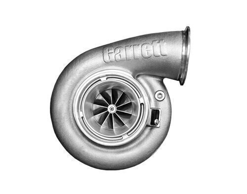 "Garrett G42-1450 Turbo Assembly with Turbine Housing T4 Inlet/V-Band A/R 1.28  Horsepower: 525 - 1450HP Displacement: 2.0 - 8.0L  Garrett® G Series Compressor Aerodynamics (10 blades) for maximum HP. Fully machined Speed Sensor and pressure ports. Turbine Wheel Aero constructed of Inconel super alloy rated 950ºC. Stainless Steel non wastegated turbine housing option capable of 950°C. Oil restrictor and water fittings included.  Compressor side: TRIM 65 A/R 0.85  Compressor Air Inlet: Hose 5""  Compressor Air Outlet: V-Band 4.2""  Turbine side: TRIM 84  A/R 1.28  Turbine Inlet: T4  Turbine Outlet: V-Band 4.3"""