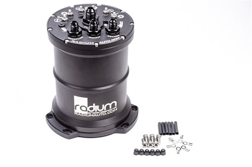 Radium MPFST, Dual Walbro F90000274 E85, Pumps Included Multi-Pump Fuel Surge Tank (MPFST) Recently redesigned for 2019, the Radium Engineering MPFST is the perfect solution for high power vehicles experiencing fuel starvation during aggressive driving. Up to 3 high flowing fuel pumps can be used in the surge tank.