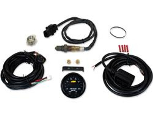 * Bosch 4.9LSU wideband UEGO sensor * Factory-calibrated resistor does not require free-air calibration—but technology allows for free-air calibration as sensor ages, if user desires * Compatible with vehicle/system voltages up to 16 V * 0-5 V and RS232 output for data-logging and feedback control * AEMnet (CANbus) for data-logging and daisy-chaining multiple controllers up to 16 cylinders * Can display AFR values in hundredths of a percent * 52mm gauge diameter and slim 0.825 in. gauge depth * Gauge cup depth only .200 in. deep * Locking connectors