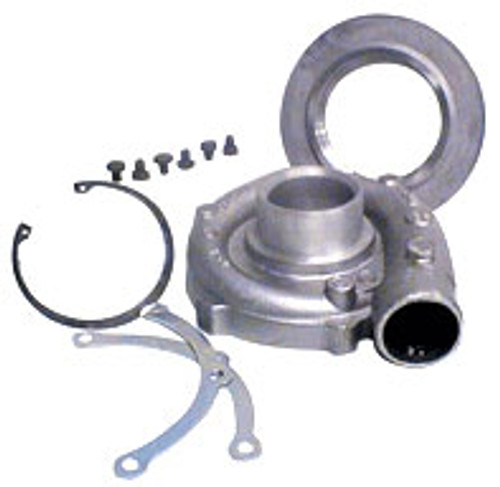 "Garrett Compressor Housing Kit GT2871R (inlet 2.75"") Includes clamps, bolts, adaptor and retaining ring"