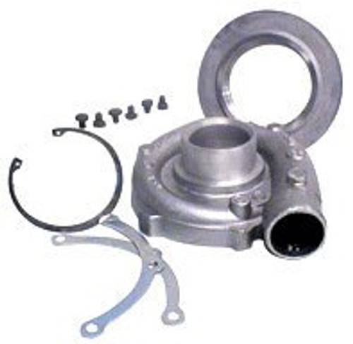 "Garrett Compressor Housing Kit GT2871R (inlet 4"") Includes clamps, bolts, adaptor and retaining ring"