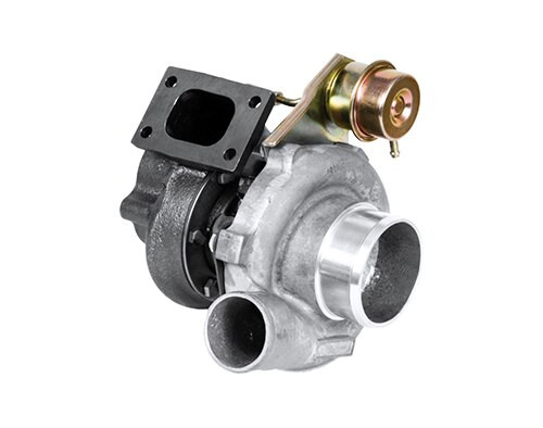 """Garrett Turbo GT2860RS - Dual ball bearing, oil & water-cooled CHRA; Internally wastegated turbine housing complete with actuator; Upgrade turbocharger for GT2554R (471171-5003S) and GT2560R (466541-5001S), turbine housing flanges are outline interchangeable; Turbine wheel is cast from """"Inconel"""" material for extreme applications; """"Disco Potato"""" refers to the Nissan Sentra (potato-shaped body) with psychadelic colour-change paint (disco) that was build. The name stuck. Compressor side: TRIM 62 A/R 0.60. Turbine side: TRIM 76 A/R 0.86 - T25/5-bolts - Wastegated. Low boost actuator (480009-0009)"""