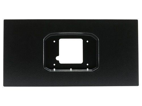 """AEM Universal vacuum formed ABS Panel - Formed to allow for the flush fit of a CD-7 Display when used with supplied softmounts. Panel is 10"""" Tall and 20"""" wide and ideal for when fitting an AEM CD-7 into an OEM cluster opening or into a customer dashboard Flush Mount Panel Features: • Available for CD-5 & CD-7 Carbon Dashes, both Original and Flat Panel versions • Made from automotive-grade ABS plastic • Pre-drilled mounting holes for CD Carbon Dash for perfect orientation • Automotive wrinkle finish and paintable surface for additional customization • 20"""" L x 10"""" T x 2"""" D, 1.0 lbs."""