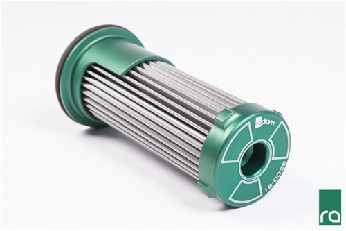 The Radium transmission filter was designed specifically for the GR6 transmission found in the 2007+ Nissan R35 GT-R. Unlike the OEM filter, the element is made from stainless steel wire mesh and can be cleaned and reused for a lifetime of service. The 40 micron element is also pleated, creating 5 times more surface area for longer service life.