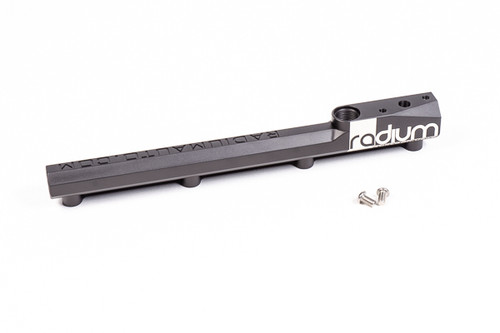 Radium Fuel Rail, Honda B-Series Manufactured with a large internal bore, the fuel rail can support all necessary engine power requirements. They are CNC machined from 6061 aluminum, anodized, and laser etched for a high quality surface finish. Like the OEM fuel rails, the injector bores are 11mm ID so factory injectors, or any equivalent aftermarket injector, can be used.
