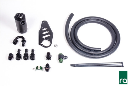 Radium Catch Can Kit, BMW 335i/135i N54 Includes: -Aluminum oil catch can with integrated dipstick -Aluminum laser cut BMW specific mounting bracket -Aluminum 10AN BMW specific PCV adapter fittings  -Aluminum 10AN hose ends and adapter fittings -Enough 10AN PCV hose to work with modified vehicles -Stainless Mounting hardware