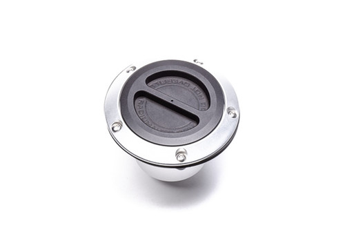 "Radium Remote Mount Fuel Filler, 1.5in, Vented Included: -Vented Cap with Roll-Over Protection -Flanged Fill Neck for 1.5"" ID Hose -Ozone/Flame Resistant Gasket -Anodized Aluminum Nut Ring -Stainless Steel M5 Bolts"