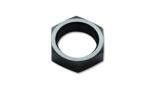 Vibrant Performance Bulkhead Nut, -20 AN, Aluminum, Black Anodized