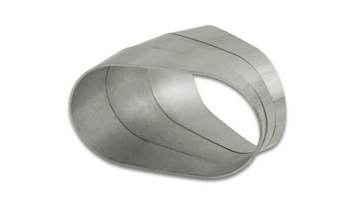 Vibrant Performance Stainless Steel Tubing, 45 Degree Horizontal Plane Oval Pie Cuts, Nominal Tube Size: 4""
