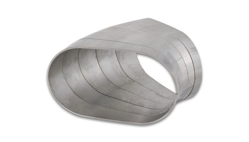 Vibrant Performance Stainless Steel Tubing 45 Degree Horizontal Plane Oval Pie Cuts, Nominal Tube Size: 3.5""