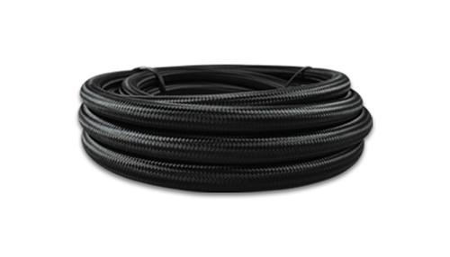 Vibrant Performance Black Nylon Braided Flex Hose with PTFE liner; -12AN (10FT long)