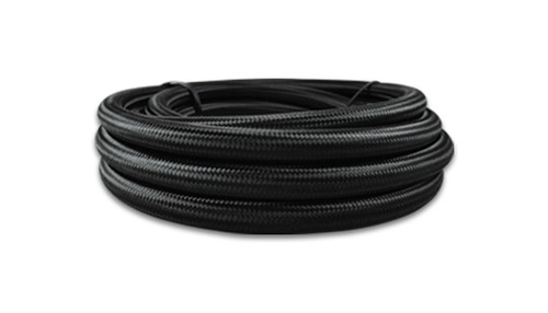 """Vibrant Performance Black Nylon Braided Flex Hose with PTFE liner; -12AN (20FT long)  Size: 10AN Hose I.D. - 0.51"""" Hose O.D. - 0.63"""" Operating Pressure: 1500 psi Burst Pressure: 6000 psi Operating Temperature Range: -94 deg F to 480 deg F  - Suitable for all types of commonly used race fuels and oils. Also suited for brake, transmission, clutch, power steering and coolant. - Our PTFE hoses have a conductive inner liner to prevent electro-static discharge. - Compatible only with Vibrant part #'s 28004 - 28810, 29984 - 29990, 29902 - 29908"""