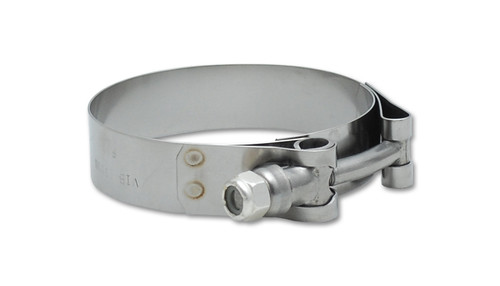 """Vibrant Performance Stainless Steel T-Bolt Clamps (Pack of 2) - Clamp Range: 1.65""""-1.89"""""""