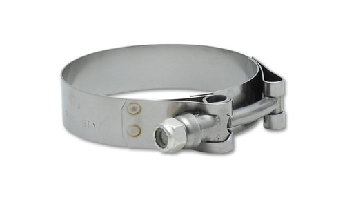 """Vibrant Performance Stainless Steel T-Bolt Clamps (Pack of 2) - Clamp Range: 2.63""""-2.87"""""""