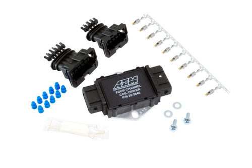 AEM 4 Channel Coil Driver Drive ignition coils on a coil-on-plug set-up without a CDI Three- and Four-Channel Ignition Coil Drivers are ideal for ATV's, motorcycles, snowmobiles and racing vehicles with space limitations or those that do not require additional voltage generated by a CDI The most affordable, reliable way to drive coils on a COP set up Simple installation Complete hardware included