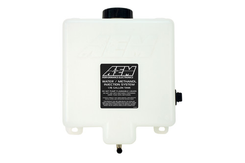 AEM V2 Water/Methanol Injection 1.15 Gallon Tank Kit with Conductive Fluid Level Sensor WMI tank with anti-starvation chamber and conductive low fluid level sensor