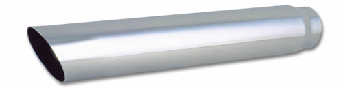 """Vibrant Performance Weld-on Exhaust Tips 4"""" Round Stainless Steel Tip (Single Wall, Angle Cut) - 3"""" inlet, 20"""" long"""