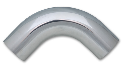 "2.5"" O.D. Aluminum 90 Degree Bend - Polished,  6061 Aluminum  Tube OD: 2.5"" CLR: 3.75"" Leg Length: 3"""