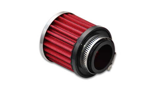 """Crankcase Breather Filter w/ Chrome Cap - 1.5"""" (38mm) Inlet I.D.  Inlet ID: 1.50"""" (38.1mm) Filter Cap OD: 3.00"""" (76.2mm) Overall Height: 3.25"""" (82.6mm) Filter Cap Color: Chrome"""